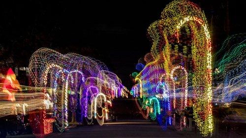 Las luces navideñas de Jupiter, en Florida, llenando las calles de colores. Allí han celebrado una Navidad con mucha creatividad.